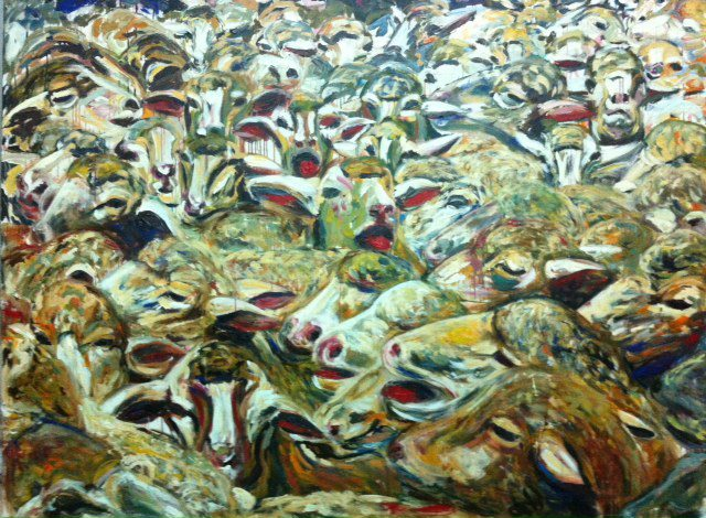Pintura en acrílico Semblança de Javier Alberola Grau