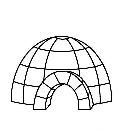 igloo coloring pages teachers - photo#20