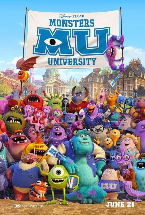 Poster Of English Movie Monsters University (2013) Free Download Full New Hollywood Movie Watch Online At Alldownloads4u.Com