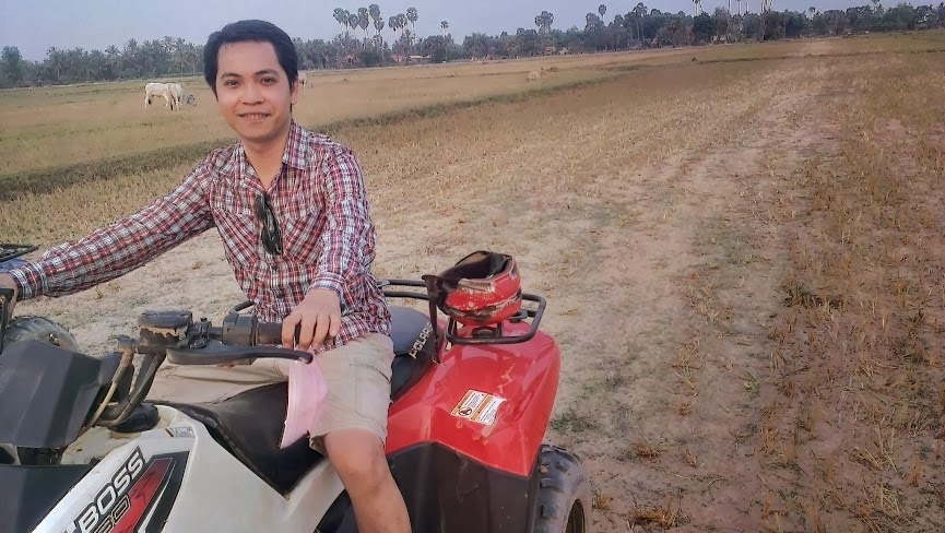 Quad-biking in Cambodia