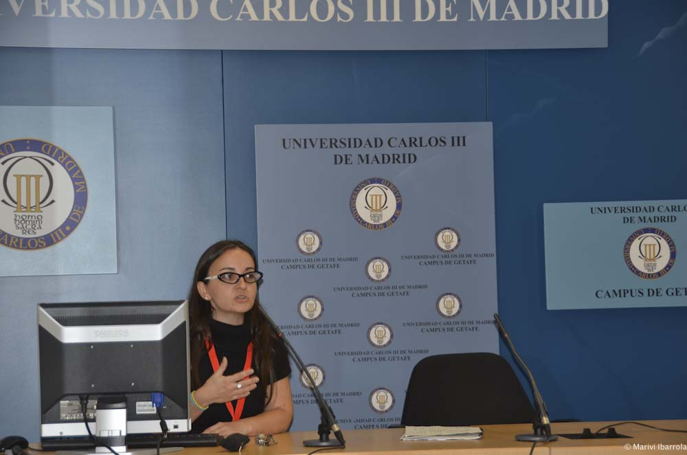 Momento de mi comunicación (Rebeca Pardo) en el congreso, Fotografía de Mariví Ibarrola (Congreso: En Transición 2012)