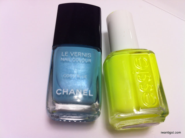 Chanel Coco Blue, Essie Funky Lime Light