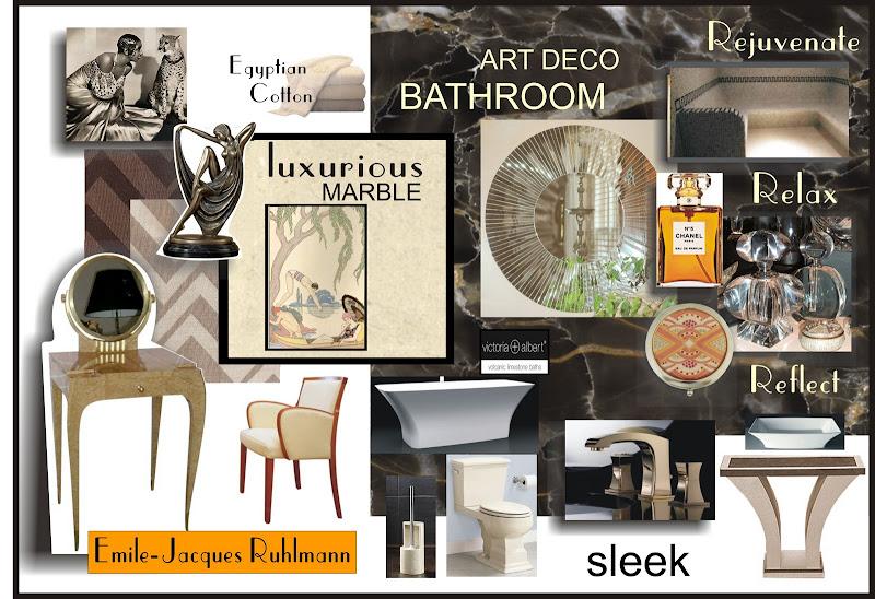 Art Deco bathroom mood board title=