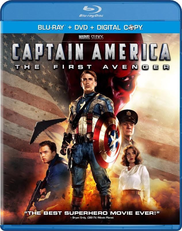 Captain America: The First Avenger, cap, DVD, Blu-ray, digital Copy, combo, cover, image, box, art