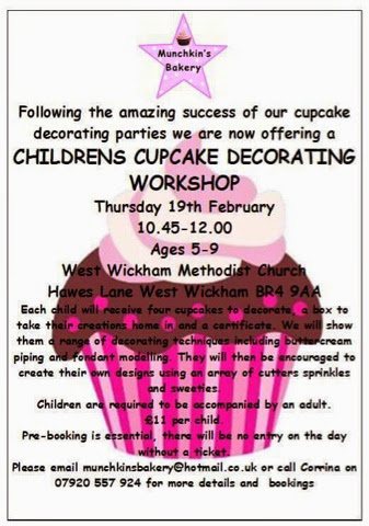 Childrens Cupcake Decorating Workshop West Wickham - Munchkins Bakery