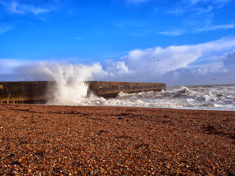 UK storms 2014 England shoreham