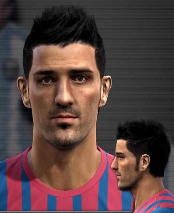 David Villa Face - PES 2012