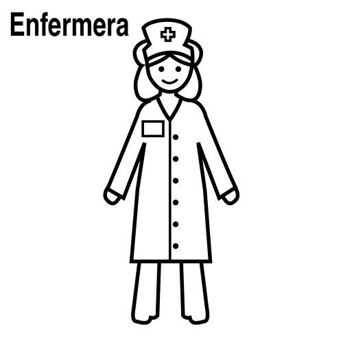 Dibujo de enfermera para pintar - Imagui