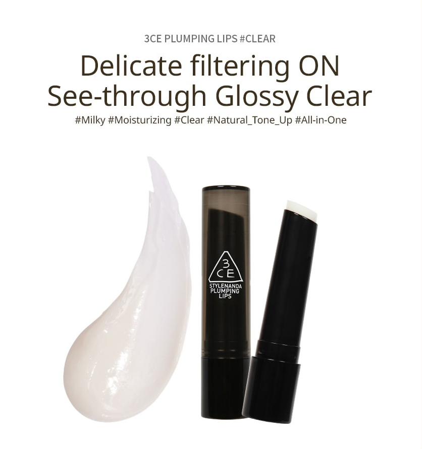 Son 3CE Plumping Lips Clear (Trong suốt)