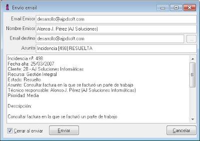 Incidencias, solicitudes, reparaciones - AjpdSoft Gestión Integral