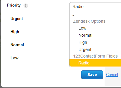 123FormBuilder Zendesk ticket type customization