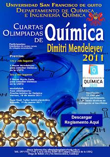 """Arrancan IV Olimpiadas de Química """"Dimitri Mendeleyev"""" 2011"""