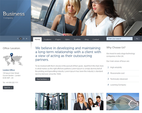 Celta Business WordPress Theme