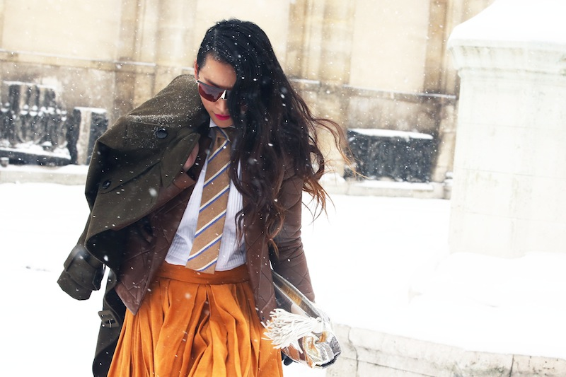 *Paris Fashion Week Fall/Winter 2013 Street Style:Nam巴黎時裝週街拍! 1