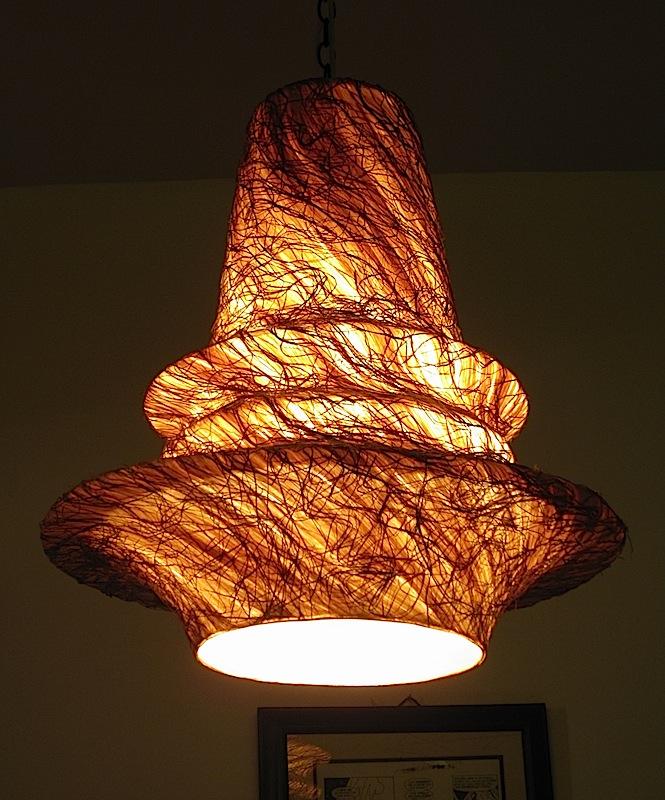 abaca fiber lamp