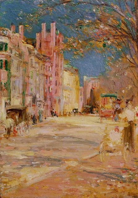 Edward Mitchell Bannister - Edward Mitchell Bannister - Boston Street Scene (Boston Common)