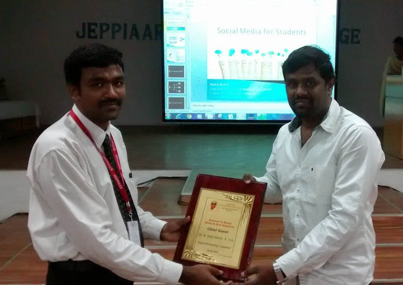 Social Media Seminar Program in Jeppiar Engineering College