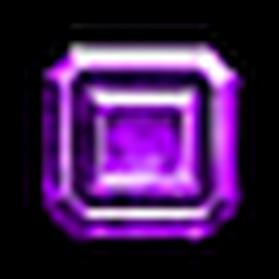 無瑕方正紫寶石