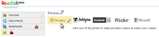 Select one of your online or cloud-based to find your thumbnail image URL