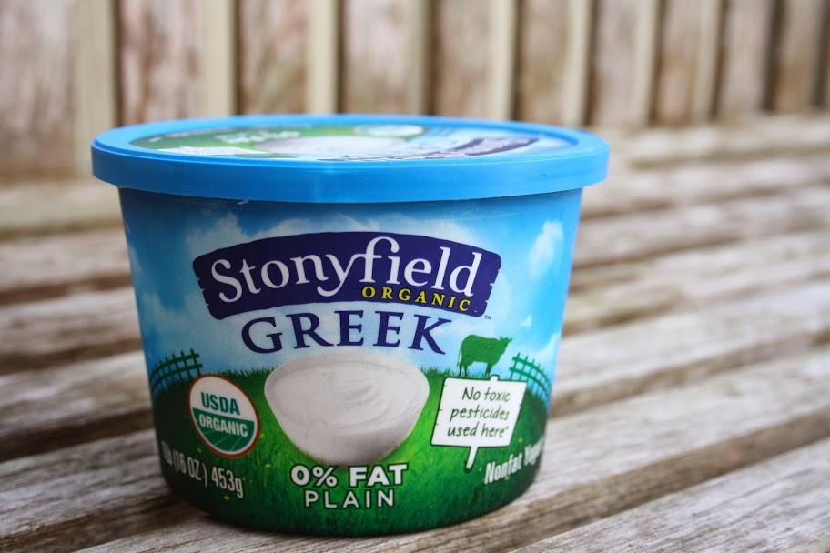 Stonyfield Greek plain yogurt