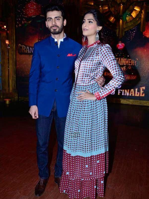 Fawad Khan and Sonam Kapoor on the sets of Entertainment Ke Liye Kuch Bhi Karega, in Mumbai. (Pic: Viral Bhayani)<br />