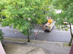of course the hostel is across the street from a construction zone that started with the jack hammer bright and early.
