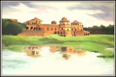 Jahaj Mhahal, Mandav (Dhar) - Diwali 2012 - Rangoli