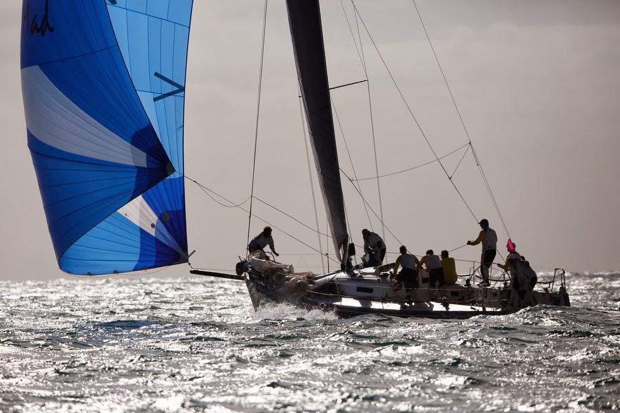 J/125 Stark Raving Mad sailing St Maarten Heineken regatta
