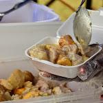 Seszelska kuchnia - La Daube czyli słodkie ziemniaki i banany w kokosowym sosie.