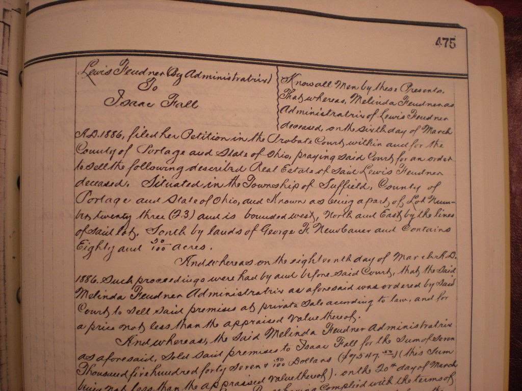 Deed to Isaac FallPage 475