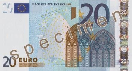 gambar uang kertas 20 euro