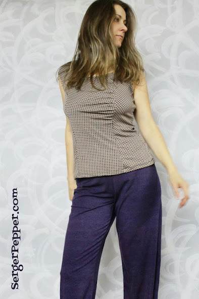 Serger Pepper - Gathered Front Top and Straight Leg Pants - pattern testing