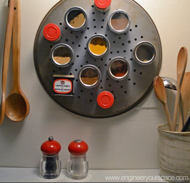 Especiero decorativo para cocinas pequeñas.