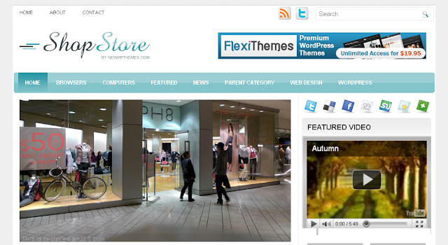shop store blogger template