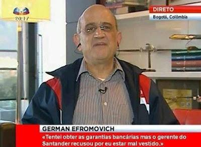 Germán Efromovich não obteve garantias bancárias para compra da TAP por estar mal vestido