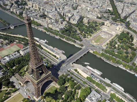 Tour Eiffel, aérea