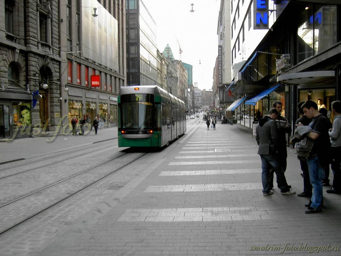 Улицы Хельсинки трамвай