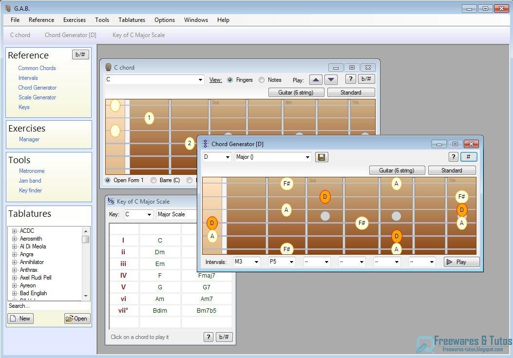 guitar and bass un logiciel pour aider les guitaristes et bassistes freewares tutos. Black Bedroom Furniture Sets. Home Design Ideas
