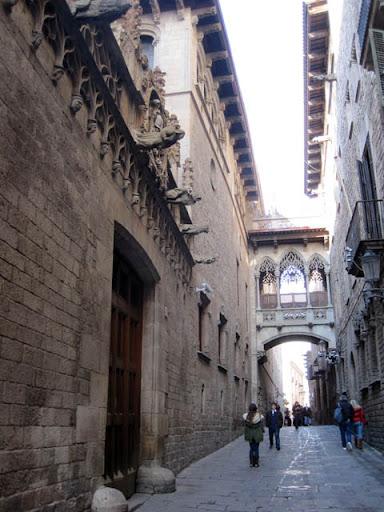 ゴシック地区大聖堂のそば@バルセロナ