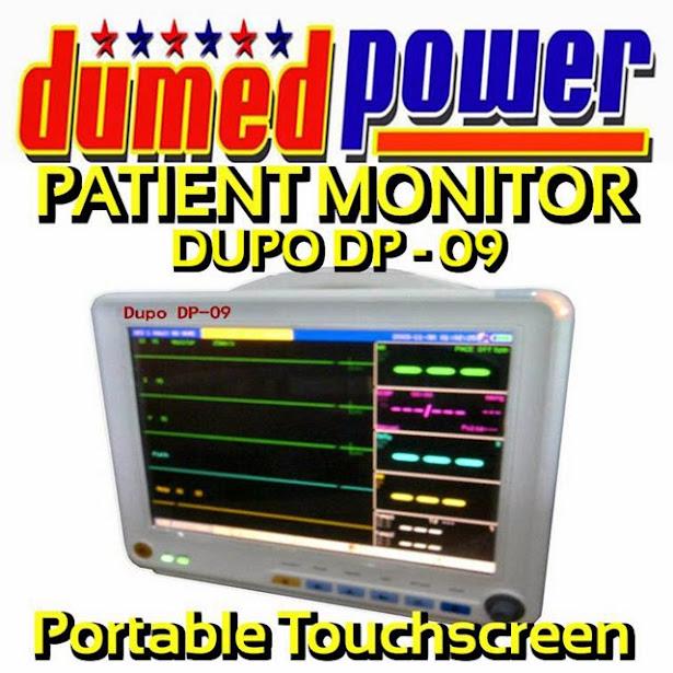 DuPo DP-09 Pasien Monitor Portable Layar Sentuh 12 Inch