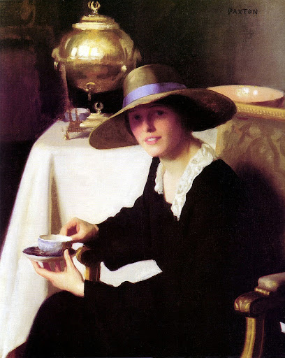 William McGregor Paxton - The Samovar 1926