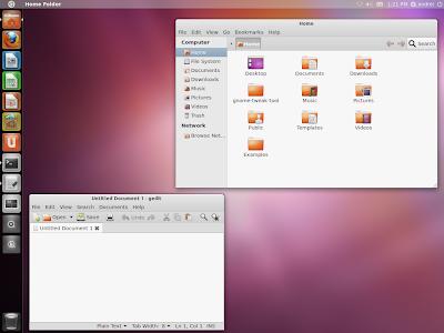 Unity Ubuntu 11.10 Oneiric Ocelot screenshot