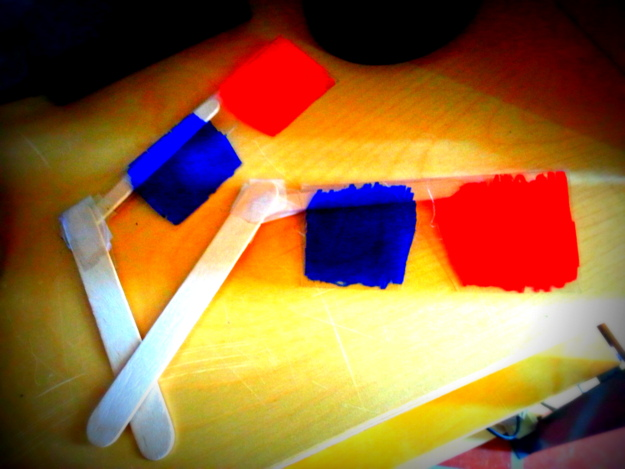 Self Made 3-D Glasses