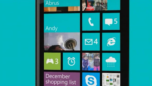 Windows 8 Phone interface
