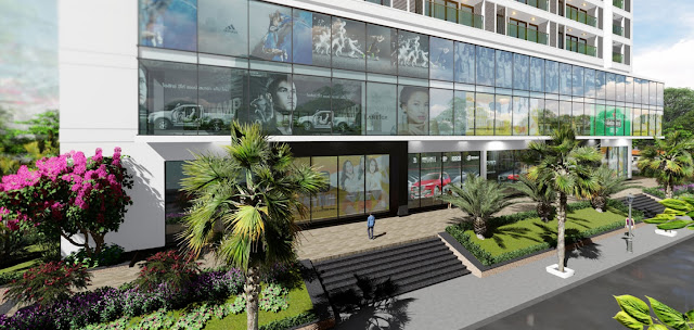 Sảnh trung tâm thương mại An Bình Plaza - Mỹ Đình