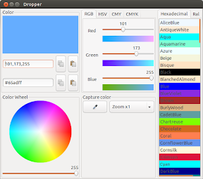 Dropper ó un selector de color para Ubuntu