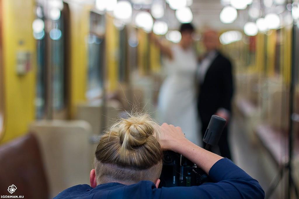 Фотосъемка Непара в метро (backstage)