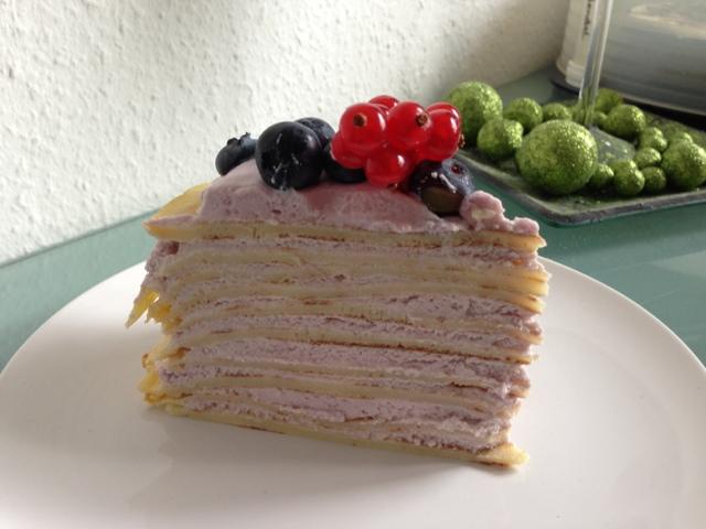 Olles Himmelsglitzerdings Pfannkuchen Kuchen Mit Frischen Beeren