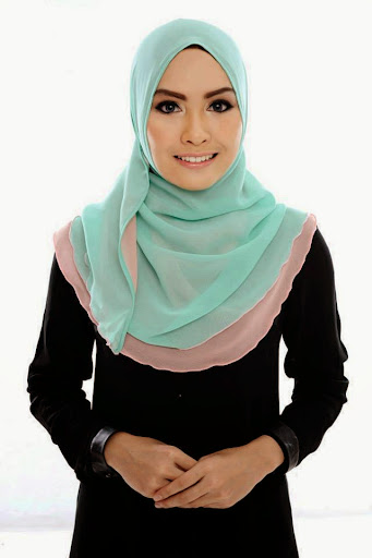 ADC III 004%2520Mint%2520Green%2520%252B%2520Peach SHAWL ADREENA TUDUNG SHAWL HALFMOON DOUBLE LAYER YANG LABUH