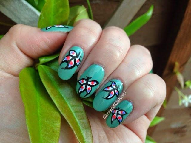 beautiful butterflies collaboration with linda 165 butterfly nail tutorial